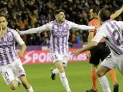 Einbahnstraßenfußball - aber nur Valladolids Michel trifft
