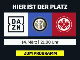 Frankfurt bei Inter: Das Europa-League-Rückspiel live bei DAZN