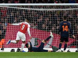 Lacazette im Fokus, Aubameyang erhöht spät: Arsenals Vorgabe