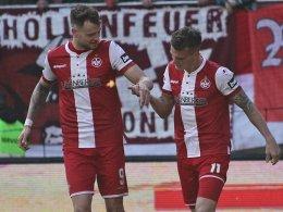 Thiele und Pick lassen FCK spät jubeln