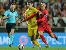 0:0 gegen die Ukraine: CR7 beißt sich beim Portugal-Comeback fest