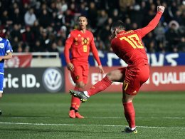 Sparflamme reicht: Jubilar Hazard trifft gegen Zypern