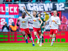 Kampl schlenzt, Werner köpft - RB siegt weiter