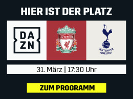 Liverpool trifft auf Tottenham - live bei DAZN