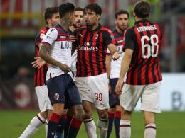 Kartenfestival überschattet Milan-Sieg