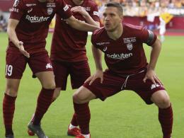 Sumo-Podolski trifft und ärgert sich