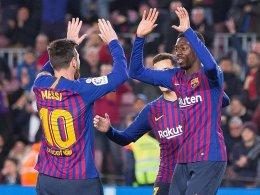 Messi und Dembelé zaubern: Barça zieht weiter