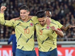 Falcaos besondere Geste: Kolumbien gewinnt Queiroz-Debüt