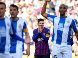 Messi: Kurioser Freistoß, Kontertor - Barça ist Derbysieger