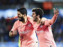 Geniestreich und Elfmeter: Suarez führt Barça zum Sieg