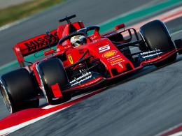 Vettel startet mit Bestzeit