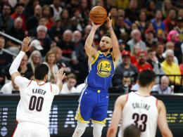 Curry führt Warriors zum dritten Sieg gegen Portland