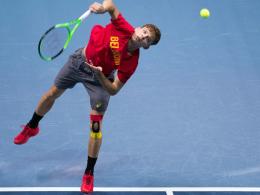 Davis Cup: Goffin & Co. im Fußballstadion von Lille