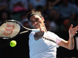 Federer im Flow: Ohne Satzverlust im Halbfinale