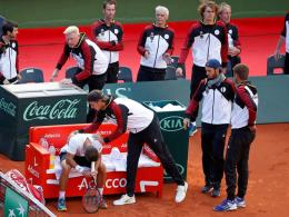 DTB-Team betreibt Werbung für den Davis Cup