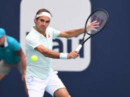 Federer souverän ins Halbfinale - Halep verpasst Thron