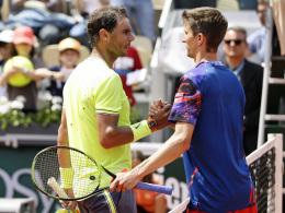 Maden chancenlos gegen Nadal - Kohlschreiber enttäuscht