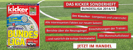 KICKER SONDERHEFT BUNDESLIGA 2014/15