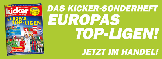 kicker-Sonderheft Europas Top-Ligen 2017/18