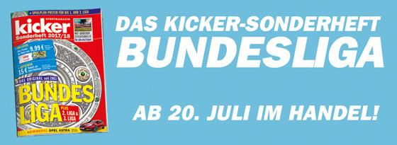 kicker Sonderheft Bundesliga 2017/18